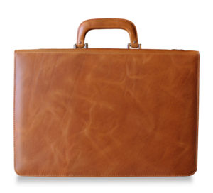 Voltaire Briefcase Marble Honey back