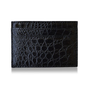Black Alligator card holder