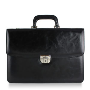 Voltaire Litigation Briefcase Black Marbled