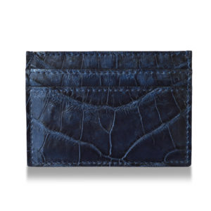 Blue Alligator Card Holder
