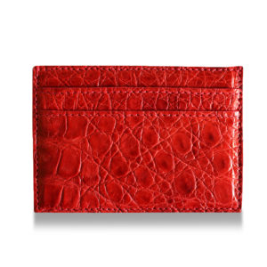 Red Alligator Cardholder