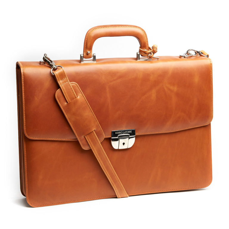 Voltaire Briefcase Marble Honey